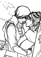 Corvo and Jessamine sketch 2 by Artsed