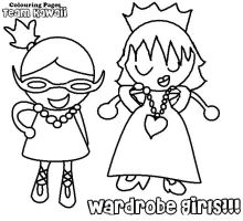 Wardrobe girls colouring page by suzzie456