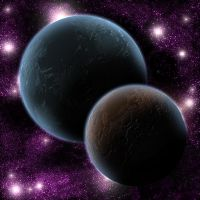 two planets - texture test by chod