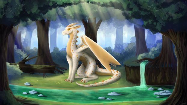 Dragon in Old Forest [CM] by domicreate