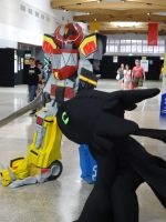 Supanova Adelaide 2014: Megazord and Toothless by lizardman22