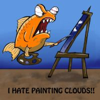 The Creative Process: Painting Clouds by BrittaM