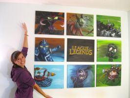 League of Legends 9 Canvas Painting by frizzy08