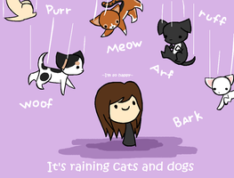 Its Raining Cats and Dogs by iamawsum