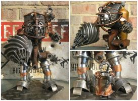 Bioshock Big Daddy And Little Sister by geargoylemetalart