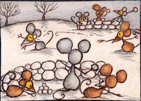 Mouse Snowball Fight by Thomas Brooks by Darkcloudsabout