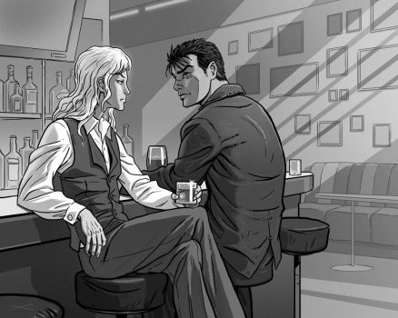 Griffith and Guts in the bar by Lipatov