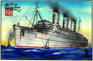 H.M.T. Queen Mary war Colors by Scottvisnjic