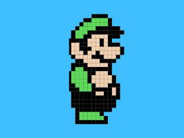 Pixel Luigi by 8-BitPower