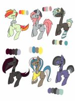 .:Female Pony Adopts:. CLOSED by DJ-Megalodon