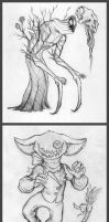 couple monster designs by VinnyCrow