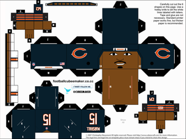 Brandon Marshall Bears Cubee by etchings13