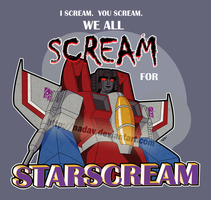 Starscream (T-shirt design) by nadav