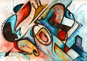 Soul - Abstract 3 by Monsieur-Drams
