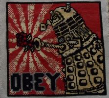 OBEY the dalek with the rose! by Symphonicon