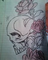 Skull and Roses by ColinNikka