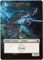 Magic the Gathering Alteration: Thopter Token by Ondal-the-Fool