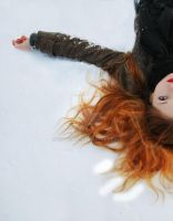 lying on the snow by michelleu