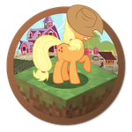 Minecraft Applejack Yosemite Ponified Icon by Falcotte