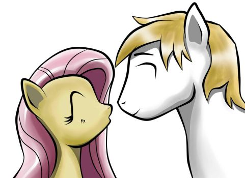 Fluttershy and Angel Stallion(MissngEyes)-2014-01 by StreaksPsyche