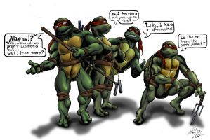 Teenage Alien Ninja Turtles by LessThanDressed