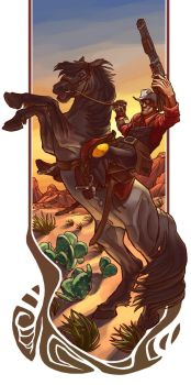 Cowboy Up RED by Syncrasis