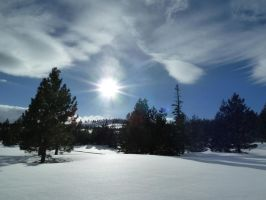 Sun Over the Snow by AtomicBrownie