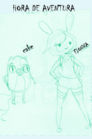 Fionna y Cake by celiaa26