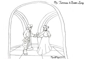 Narnia:  The Dance Lineart by MandiPope