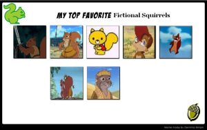 My Top Fictional Squirrels by J-Cat