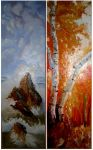 Diptych - Sea and Autumn by a-ray