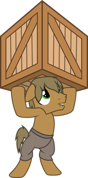 Wander lifts a crate by OutlawedTofu