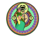 female ophiuchus stained glass by FallenAries