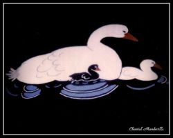 Swans on the floor by artistmember