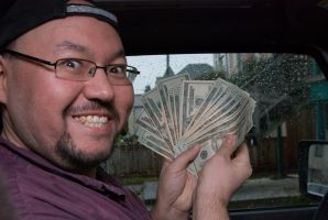 Ray with Money by IanTheRed