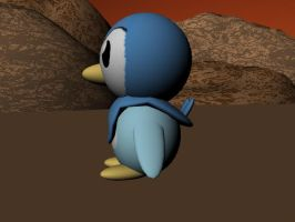 3D Piplup 3 by AnimeGal2010
