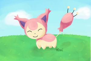 A Wild Skitty Appeared! by KittyPleasance