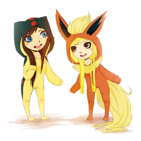 AT: Jordan and Lucy~ by NissaNii