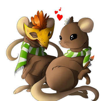 Two little mices by EndiDjPrime