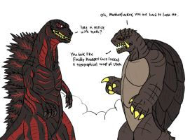 Godzilla's new look by TheWatcherofWorlds