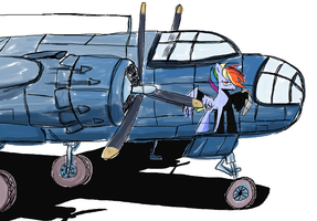Pin-up :P Rainbow Dash in Ms-Paint by sallycars