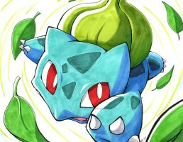 BULBASAUR used RAZOR LEAF by Ununununium