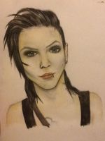 Andy Biersack - Watercolour painting by BlacklightArtist02