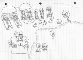 Brawl Vacation _uncolored_ by marth-and-ike-lover