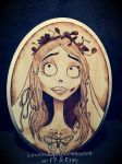 Corpse Bride Emily Pyrography by Lustuad