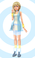 Possible KH3 Attire for Namine... maybe? + DL! by HakuMizuki