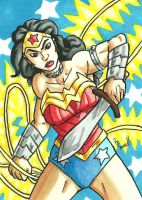 Wonder Woman Sketch Card by ibroussardart