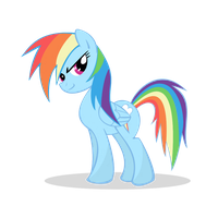 Rainbow Dash looking awesome by PartTimeBrony