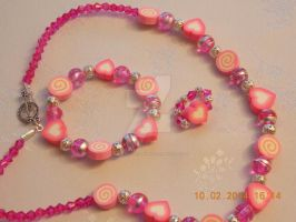 Children's pink jewellery set by Quested-Creations