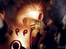 Naruto-nine-tails-mode by Ayce104